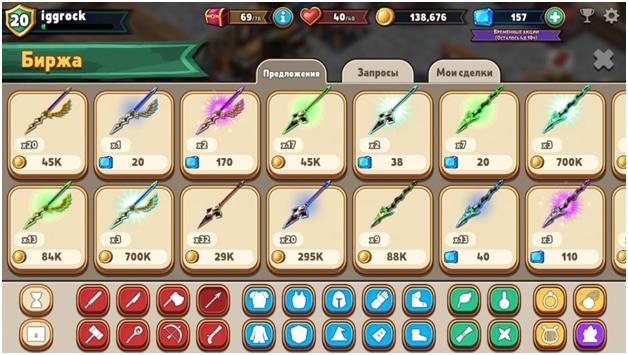 Игровой процесс Shop Heroes
