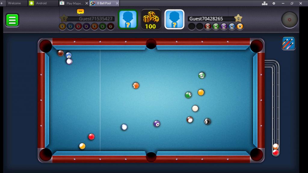 Геймплей 8 Ball Pool