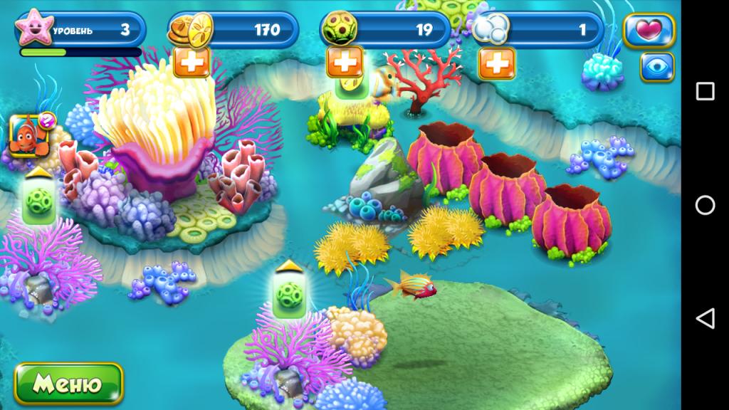 Геймплей Немо. Подводный мир
