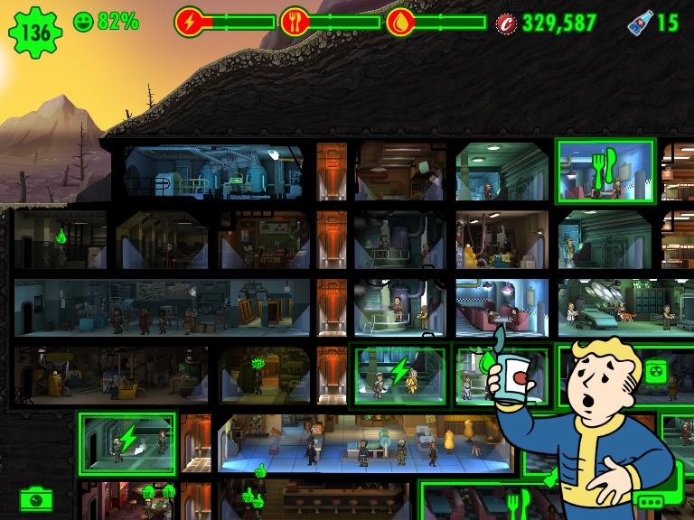 Развиваем убежище в Fallout Shelter