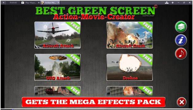 Action Movie Creator FX имеет множество функций