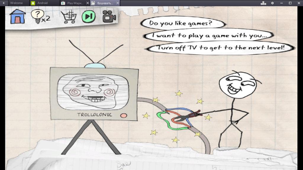 Геймплей Trollface Quest