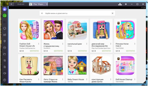 Находим игру Барби жизнь в доме Мечты в списке
