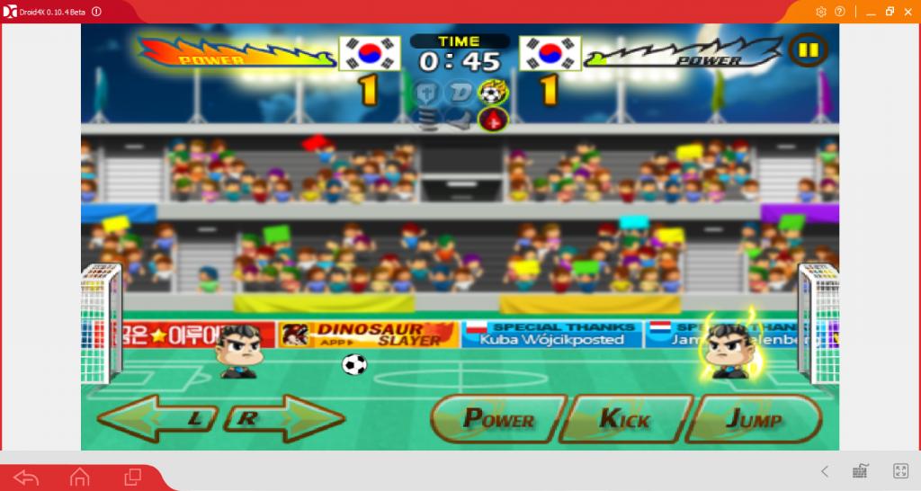 Геймплей Head Soccer