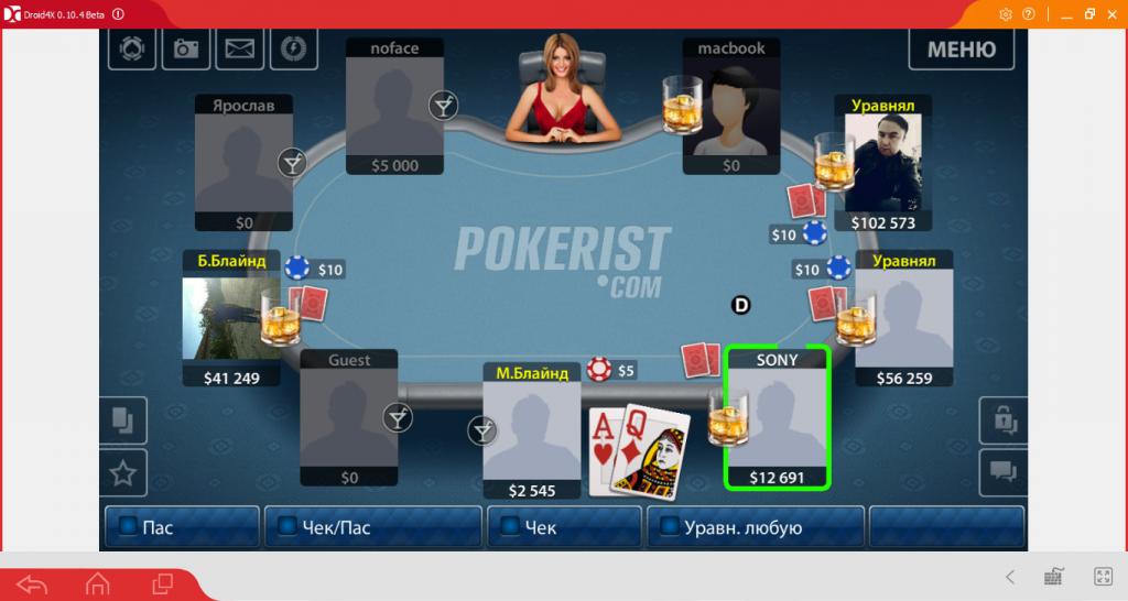 Геймплей Texas Poker
